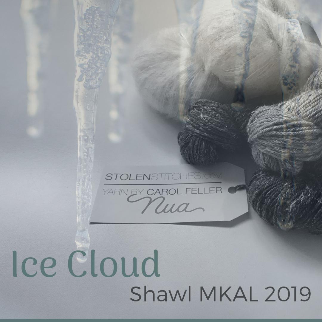 Ice Cloud Mystery Shawl KAL - Carol Feller, Stolen Stitches