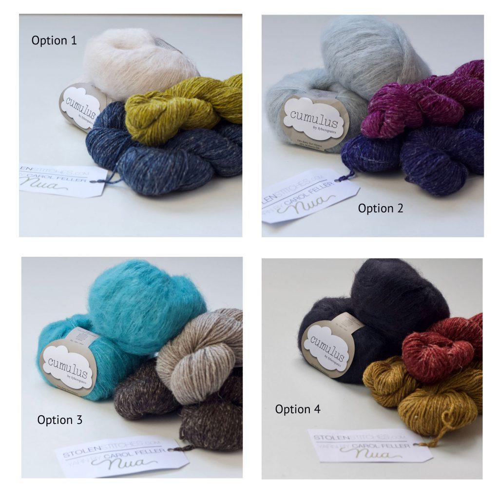 ice cloud mystery knitalong colour options