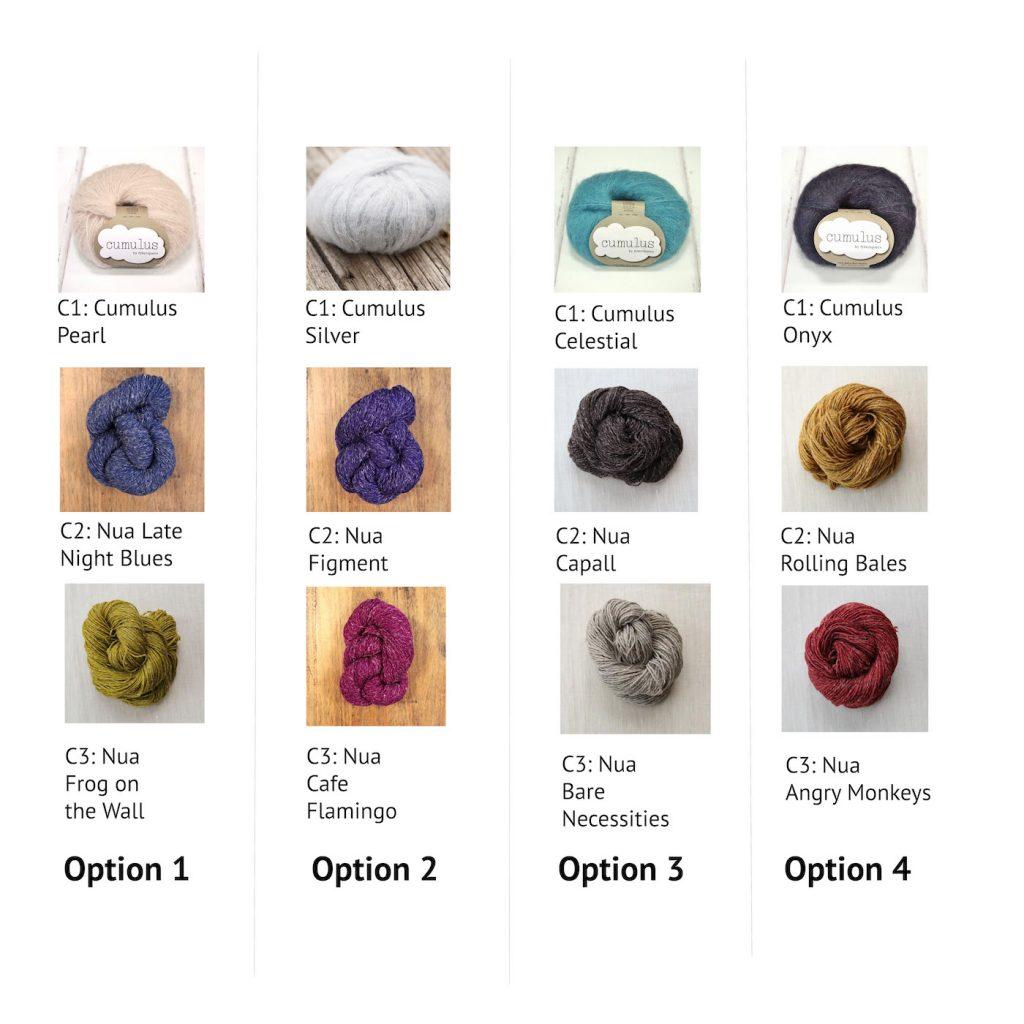 ice cloud mystery KAL yarn options