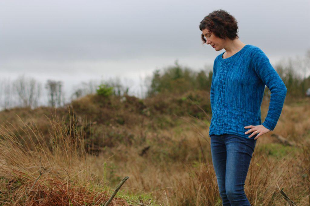 wave ripples sweater by Carol Feller