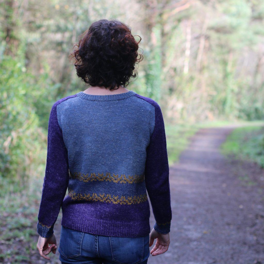 waning crescent pattern by carol feller using nua yarn
