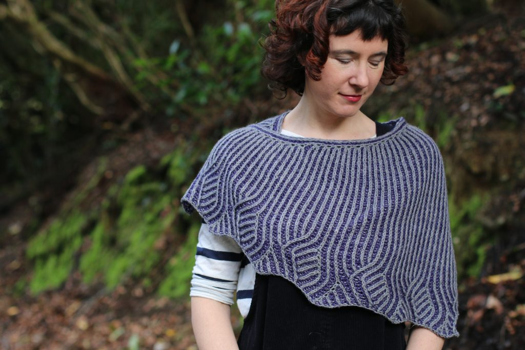 edge of vines and vale shawl