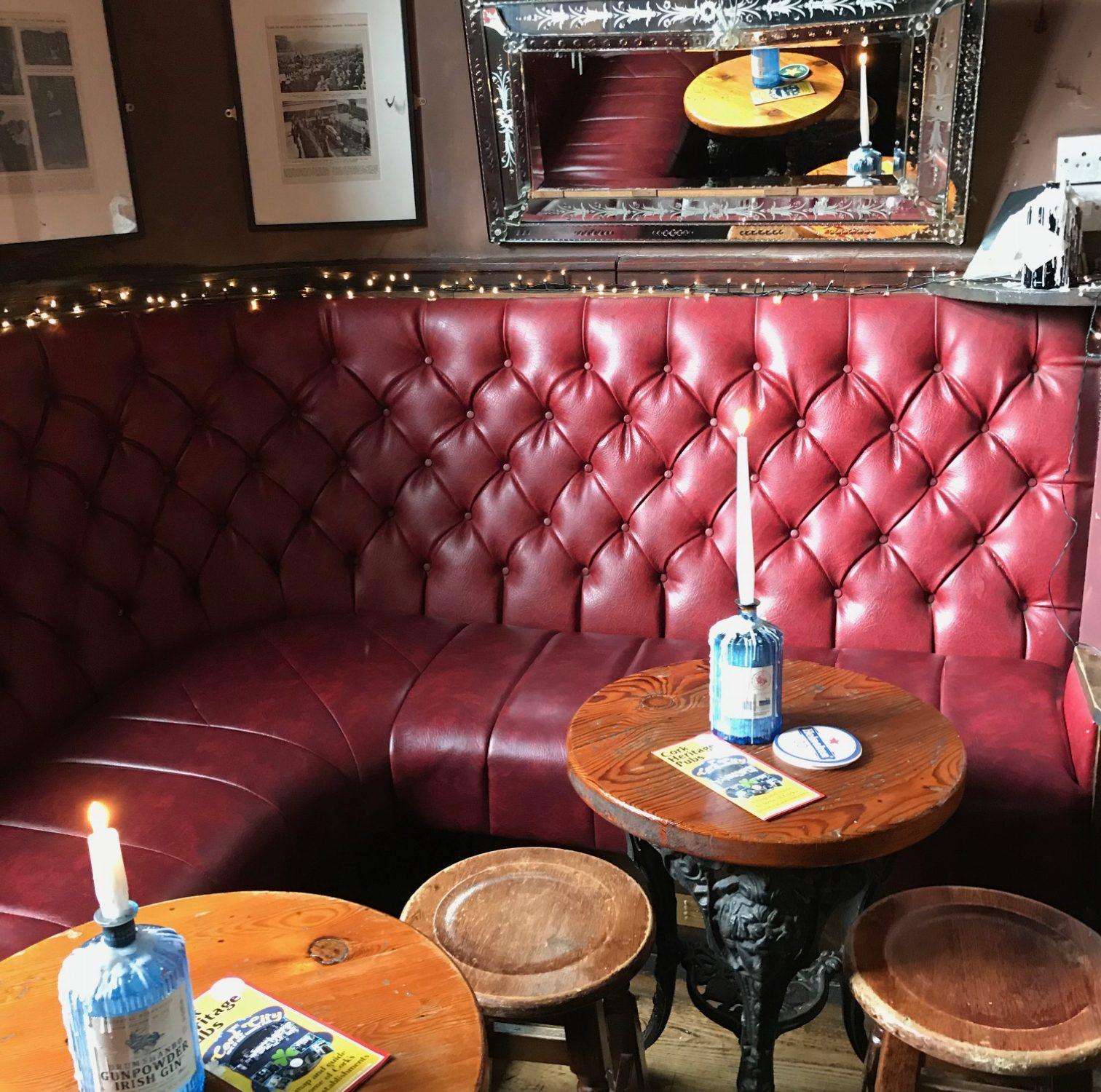 corner of a pub