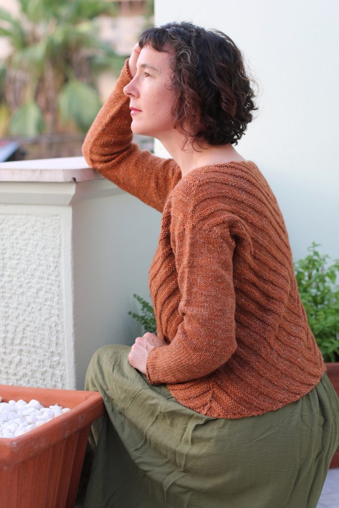 rusty lines sweater