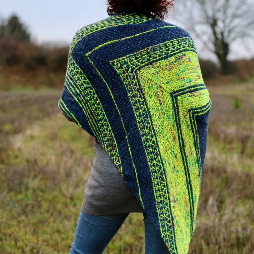 neon skyline shawl