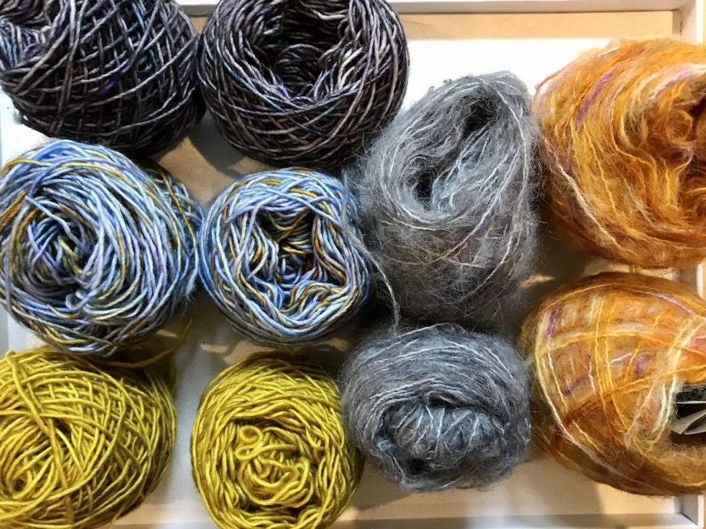 yarn in small balls