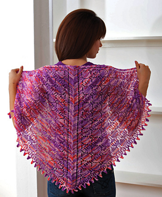 Summer Berries Shawl by Jeanette Sloan