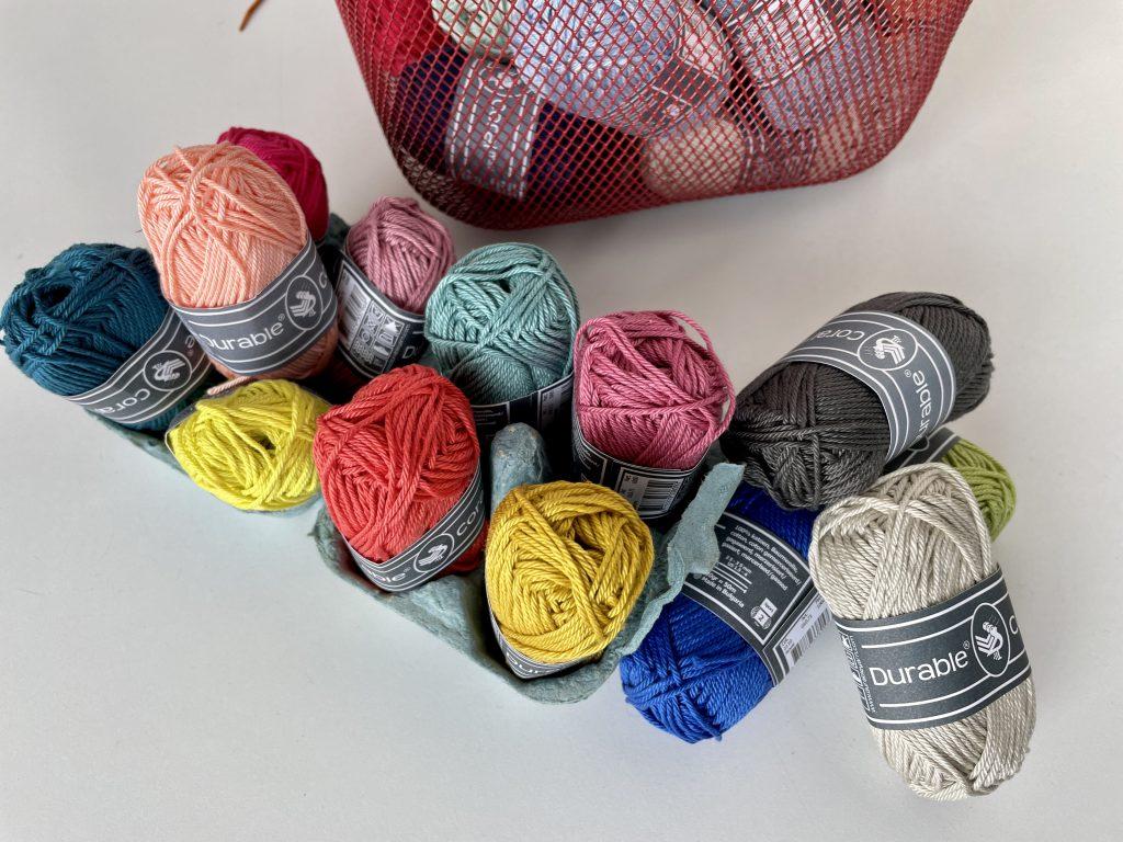 Coral yarn range at Stolen Stitches