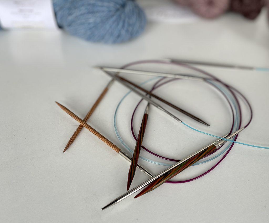 pile of circular needles