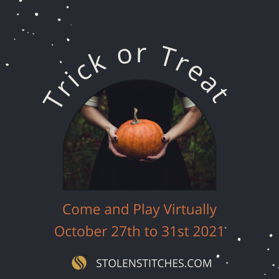 Virtual Trick or Treat with Stolen Stitches from 27th to 31st of October 2021